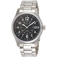 Hamilton Khaki Field Swiss-Automatic Men's Watch with Stainless-Steel Strap (Silver Tone)