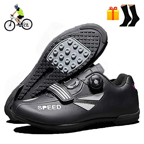 NNZZY Unisex Adults' Low Mountain Biking Shoes Lock-Free Road Cycling Shoes Outdoor Sports Bike Footwear Non-Slip Breathable Damping Wearresistant Mountain Bike Shoes,41