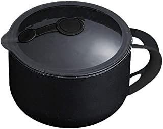 YARNOW 1000ml Medical Stone Soup Bowl Large Capacity Food Container(Black)
