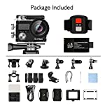 AKASO Brave 4 4K 20MP WiFi Action Camera Ultra HD with EIS 30m Underwater Waterproof Camera Remote Control 5X Zoom… 12 UPGRADE SERIES OF AKASO EK7000: Featuring 4K/24fps, 2K/30fps and 1080P/60FPS video resolution and 20MP photos, AKASO Brave 4 action camera enables you to take incredible photos and ultra HD videos, clearly recording the beauty and wonders in life! OPTIONAL VIEW ANGLE AND ANTI-SHAKING: Adjust the view angle of this action camera according to your needs between 170°, 140°, 110°, and 70°. Built in smart gyroscope for anti-shaking and image stabilization to make your video much more smooth. SPORTS CAMERA WITH WIFI AND HDMI: Sharing & editing videos from an action camera is easier with the free app. Just download the App on your phone or tablet and connect with this action camera. Wi-Fi signal ranges up to 10 meters. With HDMI Port allows you to connect it with television.