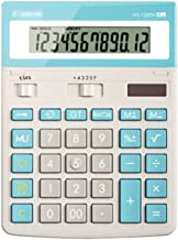 $49 » Office Desktop Calculator Solar Portable 12 Digit Large LCD Display Calculator for Home Classroom Student (Color : Blue)
