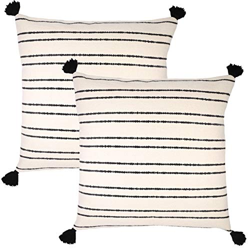 Woven Nook Decorative Throw Pillow Covers, Demi Set, Pack of 2 (24