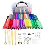 Xrten kit de arcilla polimérica de colores 32 diy modelado de arcilla suave para hornear