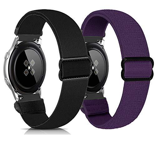 Zoholl Correas deportivas compatibles con Samsung Galaxy Watch 46 mm/Gear S3/Huawei GT 2 Correa de reloj suave de liberación rápida, correas deportivas transpirables