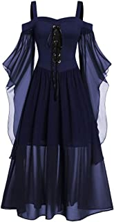 Xinantime Women Halloween Cosplay Custume Gothic Criss Cross Lace Insert Bat Sleeve T-Shirt Plus Size Tops