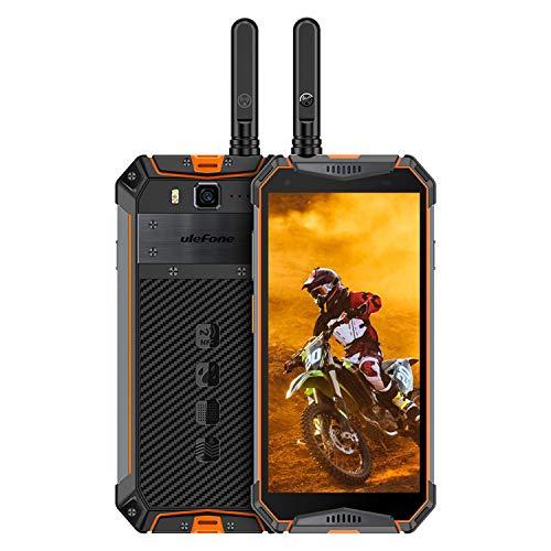 Rugged Walkie Talkie Phones Unlocked Ulefone Armor 3WT, Waterproof Rugged Smartphone Android 9.0 5.7' 6GB+64GB, 10300mAh,Helio P70, Dual Sim 4G 21MP NFC Antenna GPS (Orange)