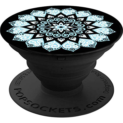 popsockets Peace Mandala sky Car, Indoor, Outdoor Passive Holder Black, Blue, White - Holders (Reader, Mobile Phone Phone/Tablet/UMPC, Car, Indoor, Outdoor, Passieve Holder, Zwart, Blauw, White)