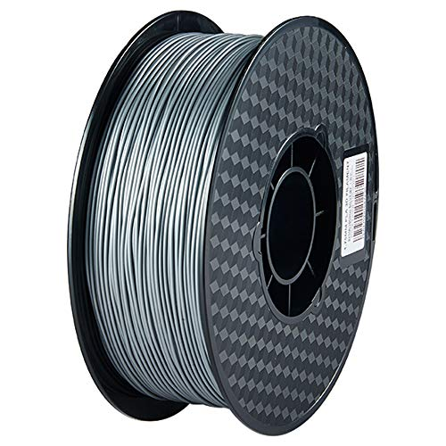 PIMIHO 3D Printer PLA Filament, 1.75mm 200g, for All Creality Ender and CR Series 3D Printer, Silver