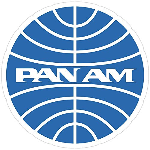 Cool Sticker For Cars, Trucks, Water Bottle, Fridge, Laptops Pan Am Airlines Stickers (3 Pcs/Pack) 6134765116681