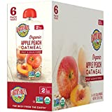 Earth's Best Organic Stage 2 Baby Food, Apple Peach and Oatmeal, 4.2...