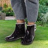 Botines, botas de lluvia sudorosas, PVC para mujeres que trabajan en el jardín (talla 39)