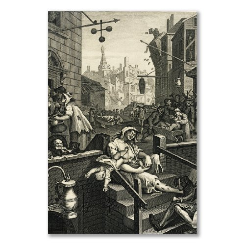 Poster stampa artistica: William Hogarth Beer Street gin Lane B (A3Maxi–28.8x 43.2cm/11.3x 17IN, semi-lucida carta satinata, Gift Artwork Home Decor decorativo)