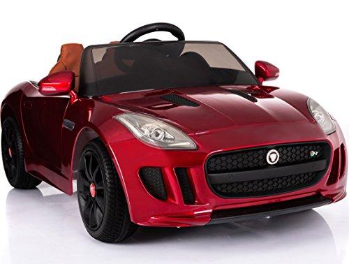 Rebo Auto per Bambini con Licenza F-Type 12 V con Telecomando da 2,4 G, Ingresso MP3, 2 velocità, Pneumatici Eva, Musica, luci e Porte Aperte
