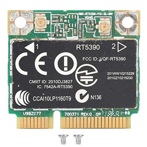 Annadue Scheda di Rete Wireless RT5390 per Computer HP RT5390 SPS 630703‑001, Adattatore Wi-Fi Mini PCIE Scheda di Rete 802.11N, Facile da trasportare e riporre.