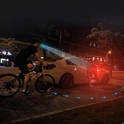 4 Stück Autotür-Warnlicht, Timorn Universal-Wireless-LED Sicherheit Anti-Kollisions-Blitz Blinklampe für Auto(Rot)