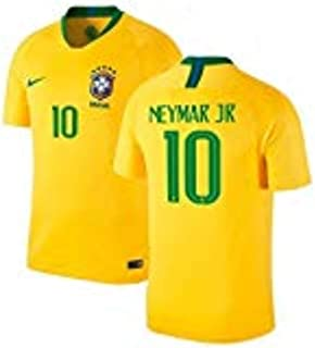 Nike Neymar Brazil National Team Men's Home #10 Jersey Gold