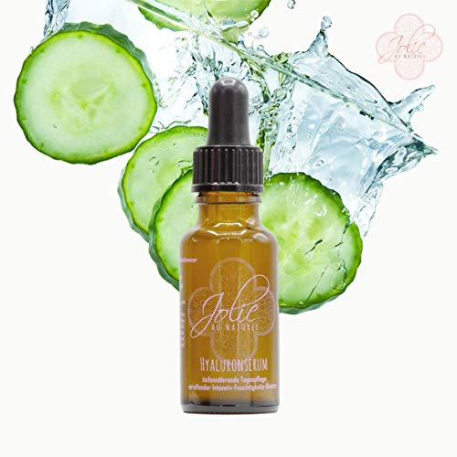Organic hyaluronic serum – firming intensive moisture booster highly concentrated vegan hylauron Hamamelis water base and cucumber seed oil handmade in German manufacture.
