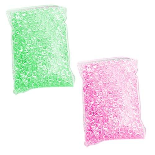 Beetest Lot Perles 150g Effacer Poisson Bol Perles pour Maison Slime Bricolage Artisanat Accessoires décoration de noël décoration de fête (Rose + Vert)