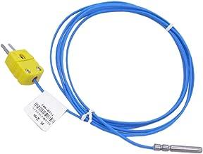 Twidec /2M with Plug Waterproof Stainless Steel K-Type Sensor Probes Metal HeadProbe(4X30mm) for Thermocouple Sensor & Meter Temperature Controller(Temperature Range:-50~200 °C) TA-6340-W-C