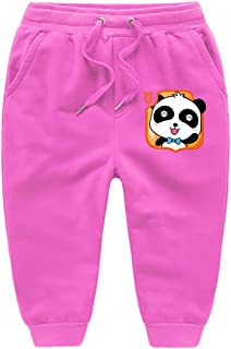GD-SportBX Boys Panda Sport Pants Cartoon Baby Bus Elastic Adjust Waist Trousers