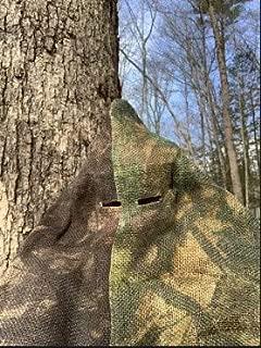 Trophy Sniper Ghillie Suit, Head Cover Shoulder Drape, True Timber HTC Fall/HTC Green Burlap