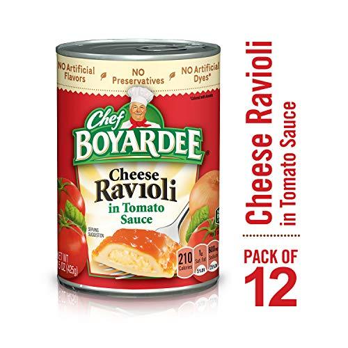 Chef Boyardee Cheese Ravioli in Tomato Sauce, 15 oz, 12 Pack