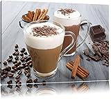 Heiße Schokolade und frischer Kaffee Format: 80x60 auf