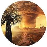 JHGAA Rompecabezas Redondos Grandes, 1000 Piezas, Pintura al óleo para niños, Adultos, árbol de Baobab, Paisaje de Tornado, Juguete Educativo para niños y Adultos, Regalo de 26,5 x 26,5 Pulgadas