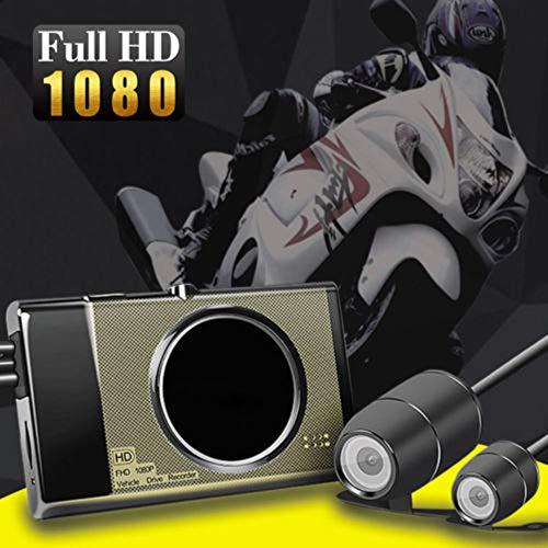 Maso, telecamera da cruscotto per moto, impermeabile, con videoregistratore Full HD, grandangolo da 140°, anteriore 1080p e posteriore da 720p