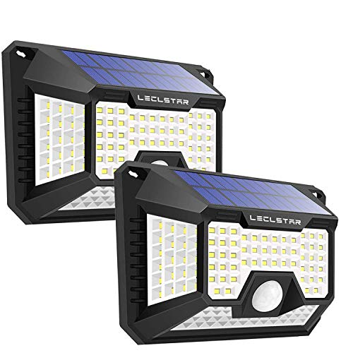 LECLSTAR Solar Motion Sensor Light Outdoor