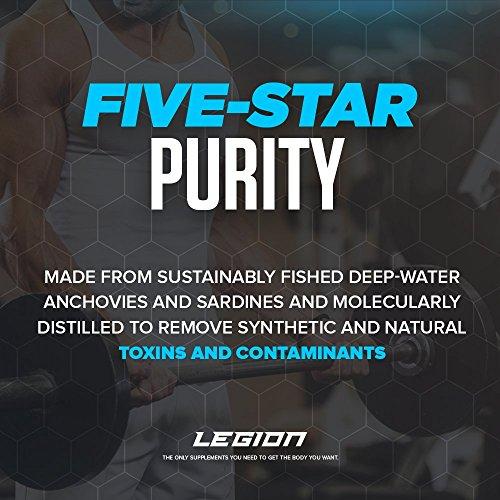 Legion Athletics Triton Fish Oil Capsules - Triple Strength Omega 3 Essential Fatty Acids with Vitamin E & Lemon Oil for…