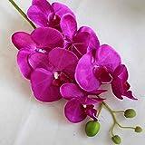 Omkuwl Soie Artificielle Phalaenopsis Orchidée Fleur Tige Bouquet Party Décoration de jardin à la maison Longueur: 78cm Violet