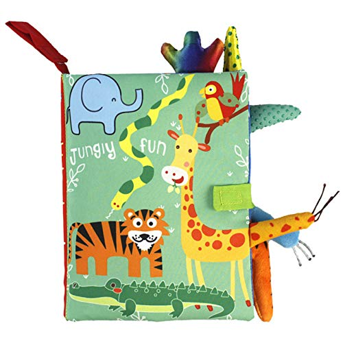 GUMEI Niños 3D Animal Colas Libro de Tela Bebé Puzzle Montessori Juguete Educativo de Aprendizaje