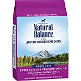 Natural Balance L.I.D. Limited Ingredient Diets Dry Dog Food, Sweet Potato & Venison Formula, 13 Pounds, Grain Free