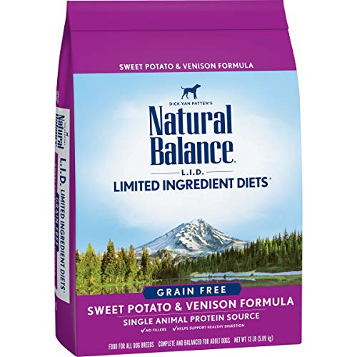 Natural Balance L.I.D. Limited Ingredient Diets Dry Dog Food, Sweet Potato & Venison Formula, 13 Pounds, Grain Free