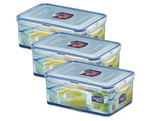 Lock&Lock Frischhaltebox | Multifunktionsbox | Frischhaltebehälter | Mehldose | Inhalt: 2,3 Liter, spülmaschinengeeignet - 3er Set