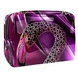 Bolsa de Maquillaje Flamenco Rosa Neceser de Cosméticos y Organizador de Baño Neceser de Viaje Bolsa de Lavar para Hombre y Mujer 18.5x7.5x13cm