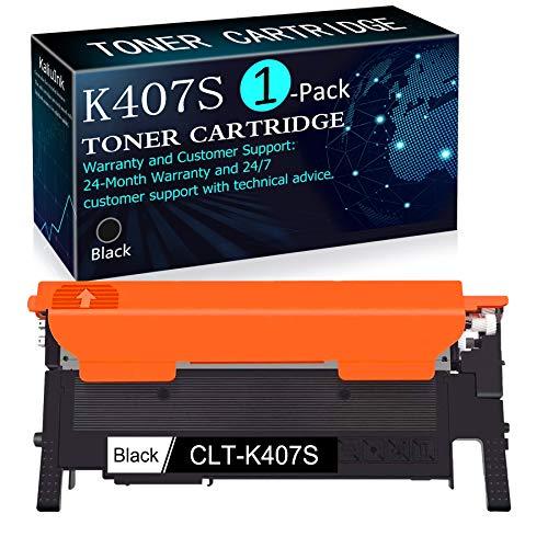 (1Pack Black) Compatible K407S CLT-K407S Toner Cartridge Replacement for Samsung CLP-32x Series CLP-320N 321 325 325W 326 CLX-318x Series CLX-3185 3185FN 3185FW 3185N 3180 3186 Printer.