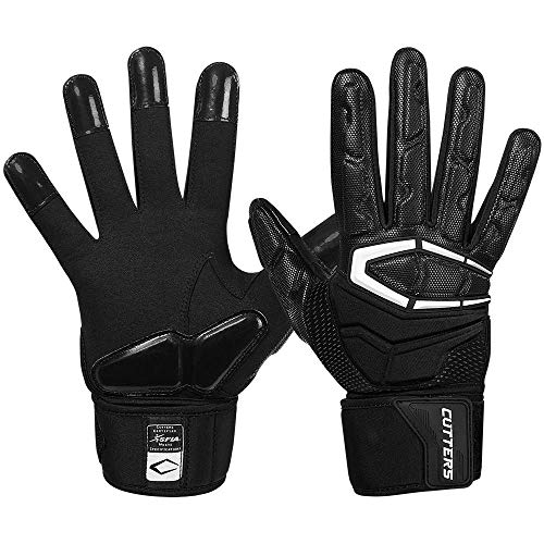 Cutters Lineman Padded Football Glove. Force 3.0 Extreme Grip Football Glove
