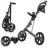 Best Golf Pull Carts - BEI & HONG Golf Push Cart 3 Wheel Review
