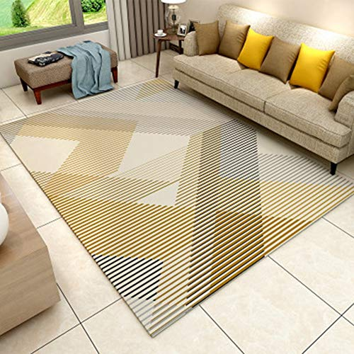 BYGenMai Tapis de Sol Motif géométrique Abstrait Morden Carpet Soft Rug,I,120x160CM