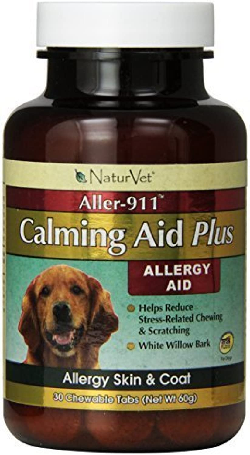 NaturVet 30 Count Aller911 Calming Aid Plus Tablets for Pets by NaturVet