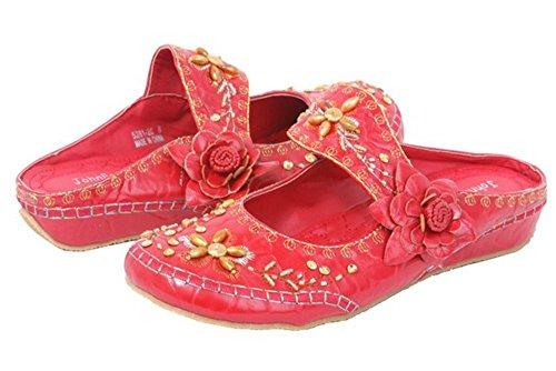 John Fashion , Sandales pour Femme - Rouge - Rouge, 42 EU (M) EU