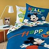 Mickey Amazing - Juego de Cama (Funda nórdica de 140 x 200 cm y Funda de Almohada de 63 x 63 cm, 100% algodón)