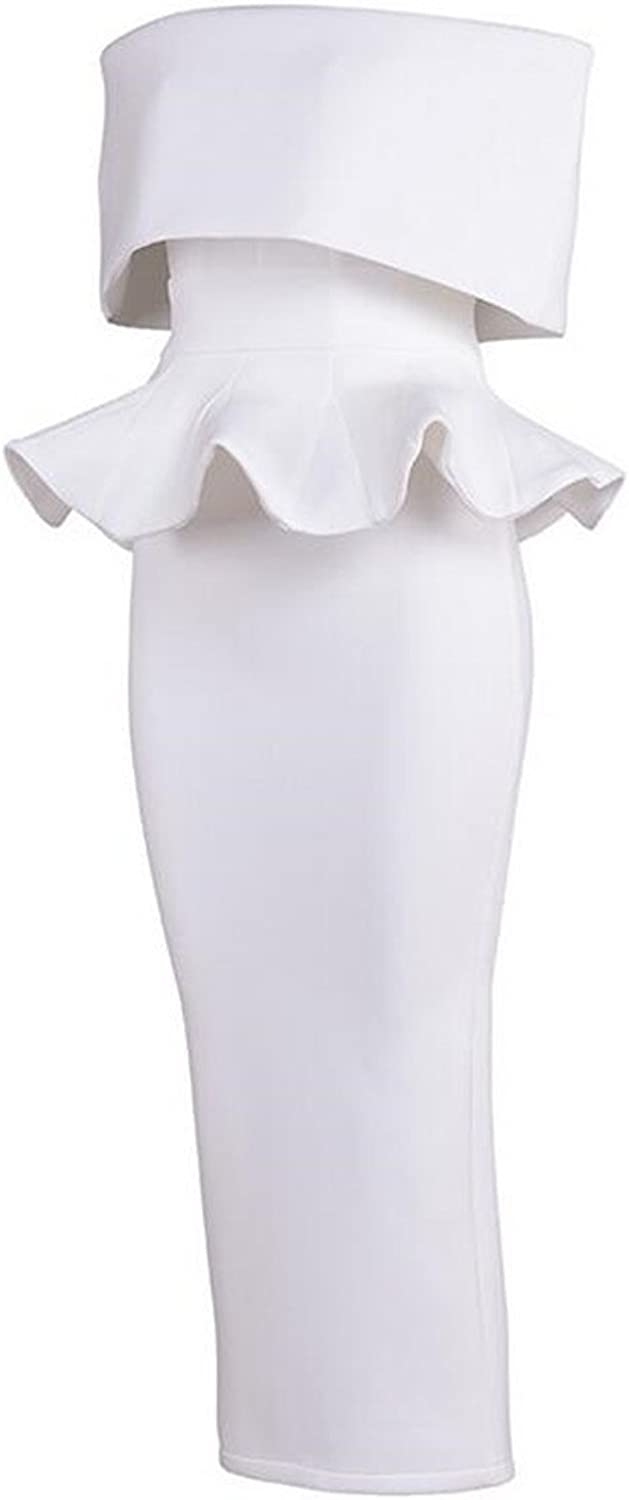 Europe and The United States HighEnd Fashion Suit Dress Bra White Party Mini Dress,S