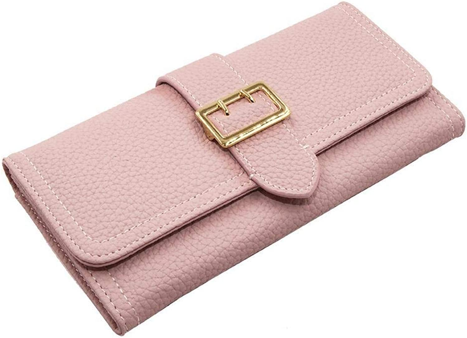 Girls Purse Women's Wallet,Lady Purse Hand Wrap Zip Around Wallet PU Leather (color   E)