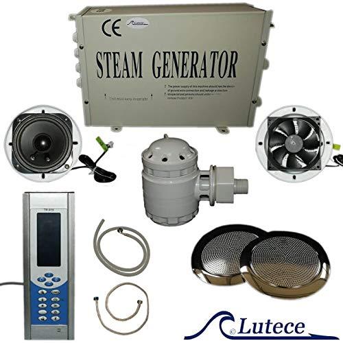 Lutece Vapor de generador Kit Hamam pequeño Volumen 2, 8kw Pantalla con Accesorios