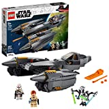 LEGO Star Wars: Revenge of The Sith General Grievous's Starfighter 75286 Spacecraft Kit with General Grievous, OBI-Wan Kenobi and Airborne Clone Trooper Minifigures, New 2020 (487 Pieces)
