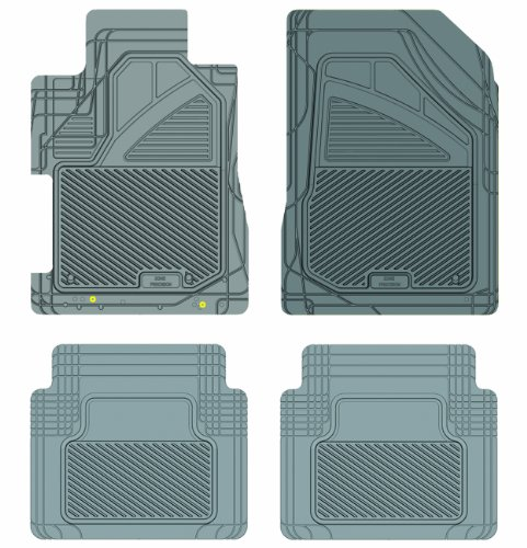 Koolatron Pants Saver Custom Fit 4 Piece All Weather Car Mat for Select Honda Civic Models (Grey)