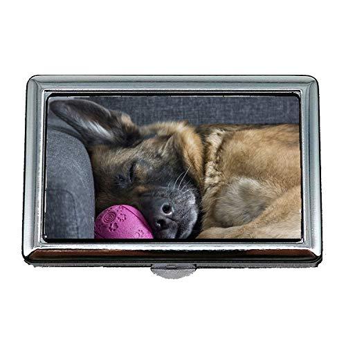 Zigarettenetui Box Hund Starb German Shepherd Sleep Visitenkartenetui Visitenkartenetui Edelstahl